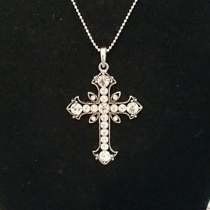 Premier Designs Jewelry - Crystal cross necklace